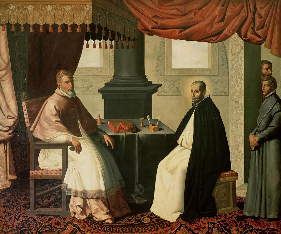 Paus Urbanus II dan Santo Bruno (Francisco de Zurbarán 1630)
