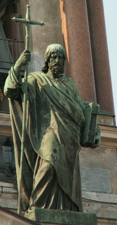 "User:LoKi [Public domain], <a href=""https://commons.wikimedia.org/wiki/File:Apostle_Philip_on_St.Isaac_cathedral_(SPb).jpg"" target=""_blank"">via Wikimedia Commons</a>"