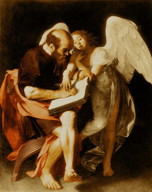 "Caravaggio [Public domain], <a href=""https://commons.wikimedia.org/wiki/File:Caravaggio_MatthewAndTheAngel_byMikeyAngels.jpg"" target=""_blank"">via Wikimedia Commons</a>"
