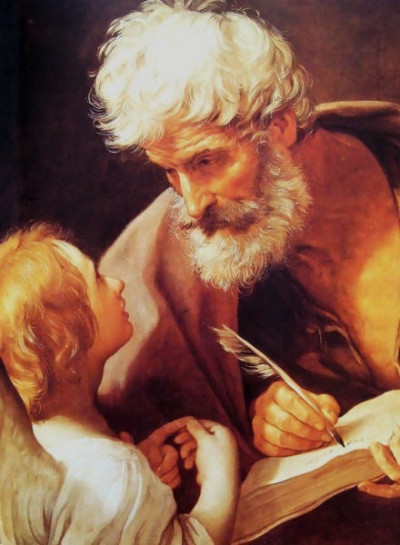 "Guido Reni [Public domain], <a href=""https://commons.wikimedia.org/wiki/File:Evangelist-St.-Matthew-And-The-Angel.jpg"" target=""_blank"">via Wikimedia Commons</a>"