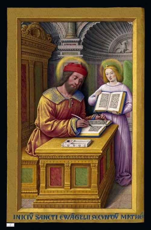 "Jean Bourdichon [Public domain], <a href=""https://commons.wikimedia.org/wiki/File:Grandes_Heures_Anne_de_Bretagne_Saint_Matthieu.jpg"" target=""_blank"">via Wikimedia Commons</a>"