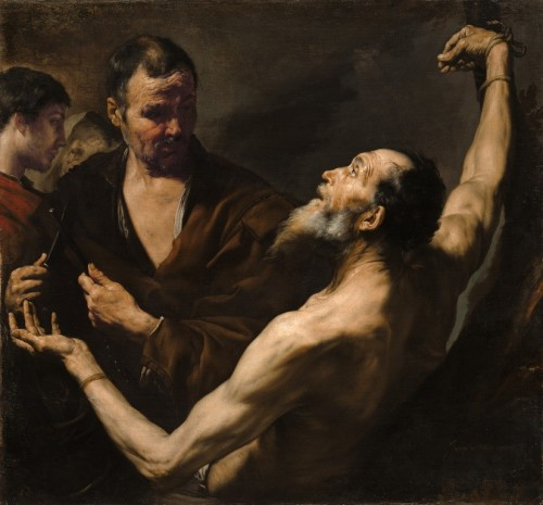 "Jusepe de Ribera [Public domain], <a href=""https://commons.wikimedia.org/wiki/File:Jusepe_de_Ribera,_The_Martyrdom_of_Saint_Bartholomew,_1634.jpg"" target=""_blank"">via Wikimedia Commons</a>"