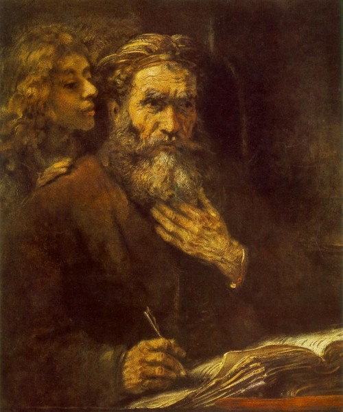 """Rembrandt [Public domain], <a href=""""https://commons.wikimedia.org/wiki/File:Rembrandt_-_Evangelist_Matthew_and_the_Angel_-_WGA19119.jpg"""" target=""""_blank"""">via Wikimedia Commons</a>"""