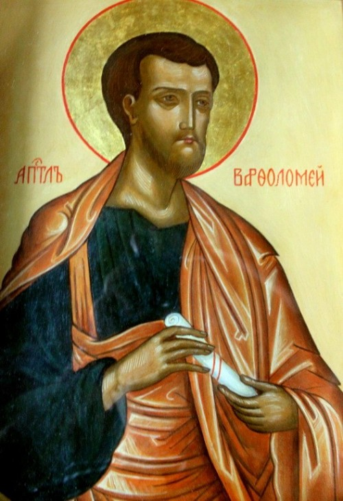 "Urek Meniashvili [<a href=""https://creativecommons.org/licenses/by-sa/3.0"">CC BY-SA 3.0</a>], <a href=""https://commons.wikimedia.org/wiki/File:St._Barholomew_icon_in_Saint_Michael_Archangel_church_in_Baku.JPG"" target=""_blank"">via Wikimedia Commons</a>"