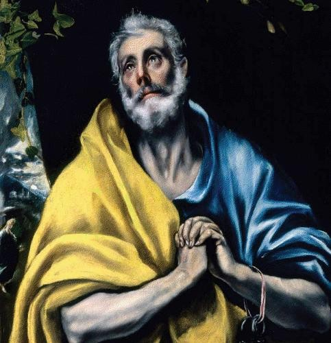 "El Greco [Public domain], <a href=""https://commons.wikimedia.org/wiki/File:El_Greco_-_Las_l%C3%A1grimas_de_San_Pedro.jpg"" target=""_blank"">via Wikimedia Commons</a>"