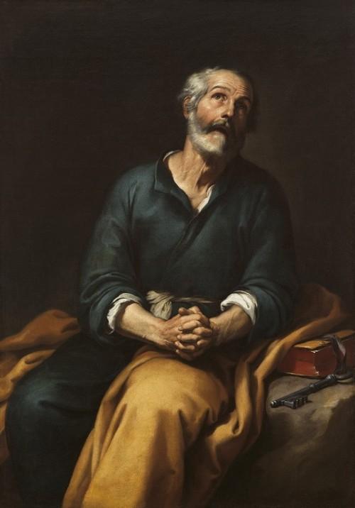 "Bartolomé Esteban Murillo [Public domain], <a href=""https://commons.wikimedia.org/wiki/File:San_Pedro_en_l%C3%A1grimas_-_Murillo.jpg"" target=""_blank"">via Wikimedia Commons</a>"