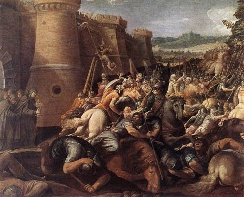 Cavalier_dArpino_-_St_Clare_with_the_Scene_of_the_Siege_of_Assisi_-_WGA04703.jpg