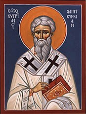 "Unknown [Public domain], <a href=""https://commons.wikimedia.org/wiki/File:Stcyprian.jpg""  target=""_blank"">via Wikimedia Commons</a>"