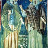 Georgian_fresco_from_Jerusalem._John_of_Damascus_Maximus_Confessor_Shota_Rustaveli