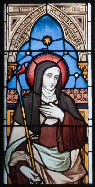 Ballinasloe_St._Michaels_Church_South_Aisle_Seventh_Window_Saints_Teresa_and_Agnes_Detail_Saint_Teresa_2010_09_15.jpg