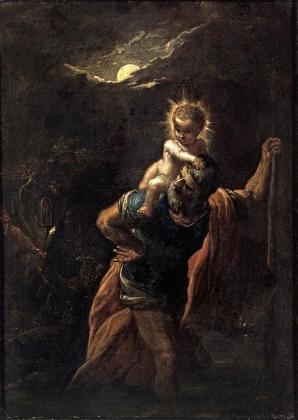"Adam Elsheimer [Public domain], <a href=""https://commons.wikimedia.org/wiki/File:Adam_Elsheimer_-_Der_heilige_Christophorus.jpg""  target=""_blank"">via Wikimedia Commons</a>"