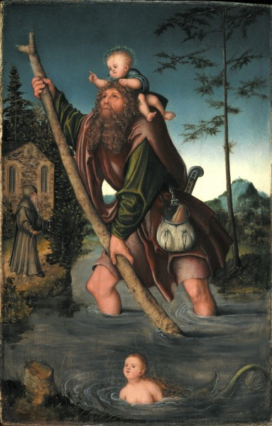 "Lucas Cranach the Elder [Public domain], <a href=""https://commons.wikimedia.org/wiki/File:Cranach_christophorus1516.jpg""  target=""_blank"">via Wikimedia Commons</a>"