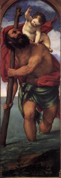 "Lorenzo Lotto [Public domain], <a href=""https://commons.wikimedia.org/wiki/File:Lorenzo_Lotto_-_St_Christopher_-_WGA13712.jpg""  target=""_blank"">via Wikimedia Commons</a>"