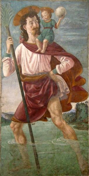 "Domenico Ghirlandaio [<a href=""https://creativecommons.org/licenses/by-sa/3.0""  target=""_blank"">CC BY-SA 3.0</a>], <a href=""https://commons.wikimedia.org/wiki/File:Ghirlandaio,_san_cristoforo,_forse_da_san_miniato_fra_le_torri.JPG""  target=""_blank"">via Wikimedia Commons</a>"