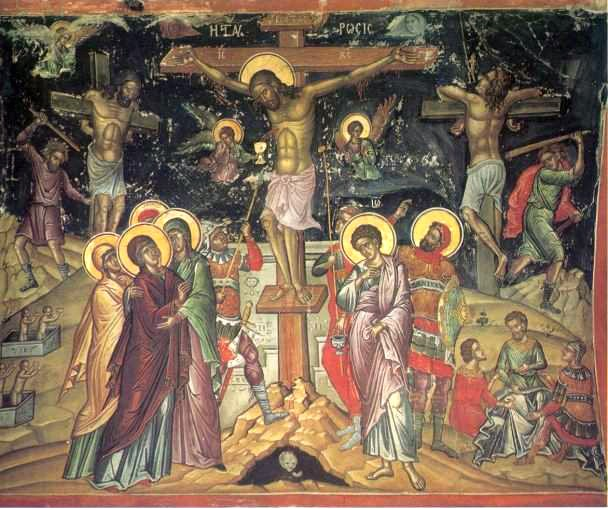 """Theophanes the Cretan [Public domain], <a href=""""https://commons.wikimedia.org/wiki/File:Crucifixion_by_Theophanes_the_Cretan.jpg""""  target=""""_blank"""">via Wikimedia Commons</a>"""