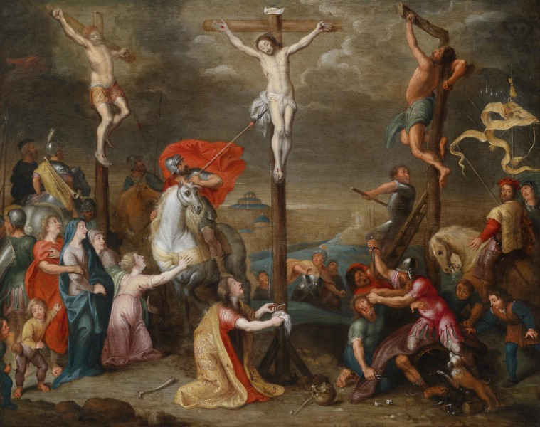 "Simon de Vos [Public domain], <a href=""https://commons.wikimedia.org/wiki/File:Simon_de_Vos_and_workshop_Crucifixion.jpg""  target=""_blank"">via Wikimedia Commons</a>"