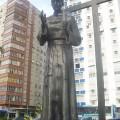 Statue-of-saint-Joseph-Anchieta-in-Santos-Sao-Paulo-Brazil