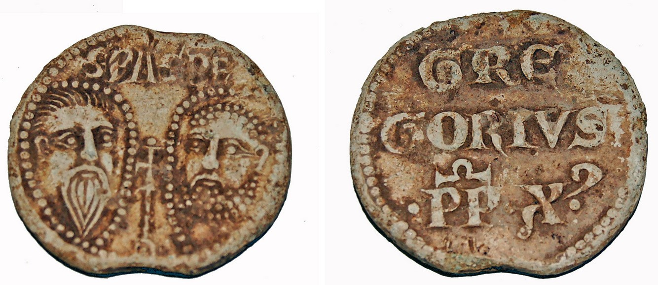 """<a href=""""https://commons.wikimedia.org/wiki/File:2593_Lead_alloy_Papal_Bulla_of_Gregory_X_(FindID_253118).jpg"""" title=""""via Wikimedia Commons"""" target=""""_blank"""">The Portable Antiquities Scheme/ The Trustees of the British Museum</a> [<a href=""""https://creativecommons.org/licenses/by-sa/2.0"""" target=""""_blank"""">CC BY-SA</a>]"""