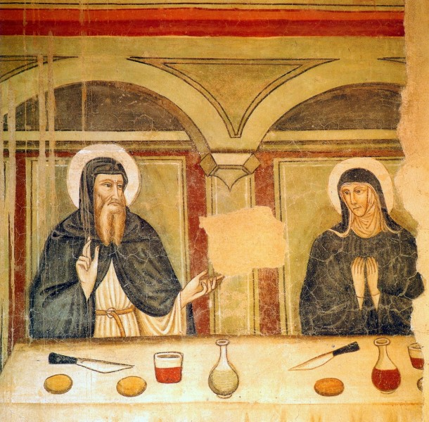 Saint-Benedict-and-Saint-Scholastica-eating_14century.jpg
