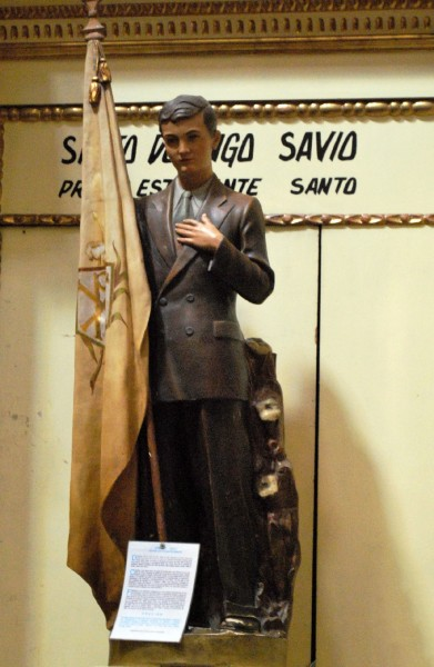 """Saint Dominic Savio is the patron saint of students. He was studying to be a priest when he became ill and died at the age of 14. He is the youngest non-martyr Saint in the Catholic Church.   <a href=""""https://commons.wikimedia.org/wiki/File:SantoDomintoSavioInesChurchDF.JPG"""" title=""""via Wikimedia Commons"""" target=""""_blank"""">Thelmadatter</a> / <a href=""""https://creativecommons.org/licenses/by-sa/3.0"""" target=""""_blank"""">CC BY-SA</a>"""