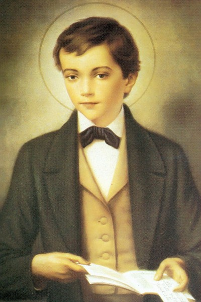 "Saint Dominic Savio is the patron saint of students. He was studying to be a priest when he became ill and died at the age of 14. He is the youngest non-martyr Saint in the Catholic Church.     <a href=""https://commons.wikimedia.org/wiki/File:Z_domingo_savio.jpg"" title=""via Wikimedia Commons"" target=""_blank"">Unknown author</a> / Public domain"