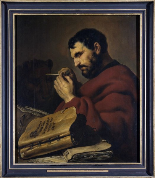 """<a href=""""https://commons.wikimedia.org/wiki/File:Jan_Lievens_-_Der_Evangelist_Markus_-_L_1578_-_Bavarian_State_Painting_Collections.jpg"""" title=""""via Wikimedia Commons"""" target=""""_blank"""">Jan Lievens</a> / Public domain"""