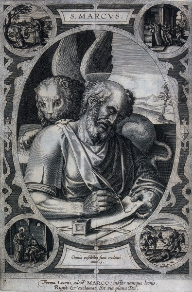 """<a href=""""https://commons.wikimedia.org/wiki/File:Saint_Mark._Engraving._Wellcome_V0032605.jpg"""" title=""""via Wikimedia Commons"""" target=""""_blank"""">See page for author</a> / <a href=""""https://creativecommons.org/licenses/by/4.0"""" target=""""_blank"""">CC BY</a>  This file comes from Wellcome Images, a website operated by Wellcome Trust, a global charitable foundation based in the United Kingdom"""