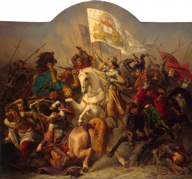 "<a href=""https://commons.wikimedia.org/wiki/File:Joan-of-Arc-in-Battle.jpg"" title=""via Wikimedia Commons"" target=""_blank"">Hermann Stilke</a> / Public domain"