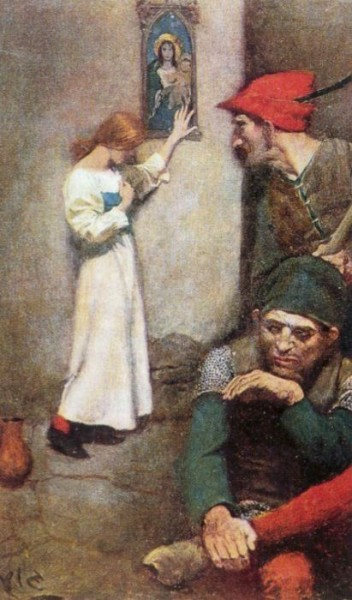 "<a href=""https://commons.wikimedia.org/wiki/File:Pyle_Howard_Joan_of_Arc_in_Prison.jpg"" title=""via Wikimedia Commons"" target=""_blank"">Howard Pyle</a> / Public domain"