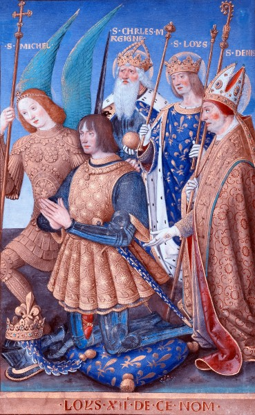 Louis XII of France Kneeling in Prayer - by Jean Bourdichon, 1498 - 1499