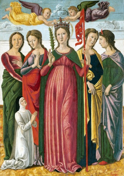 Saint Ursula and the four virgins - Giovanni Bellini circa 1450-1455