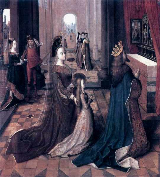 Saint Ursula with her Parents at the Altar - 15th-century unknown painters