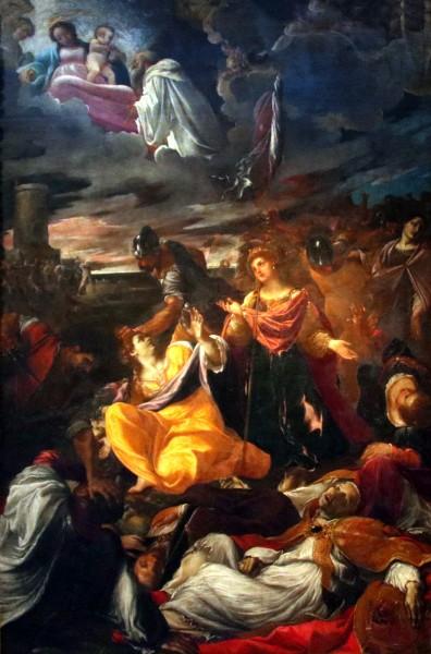"The Martyrdom of Saint Ursula - Lodovico Carracci, 1592   <a href=""https://commons.wikimedia.org/wiki/File:Lodovico_Carracci,_Martirio_di_sant%27Orsola,_1592.jpg"" target=""_blank"">Mongolo1984</a>, <a href=""https://creativecommons.org/licenses/by-sa/4.0"" target=""_blank"">CC BY-SA 4.0</a>, via Wikimedia Commons"
