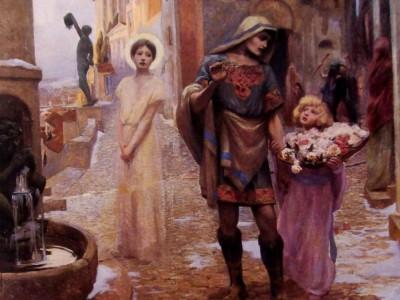 Les Roses De Sainte Dorothee - Rupert Bunny, 1892